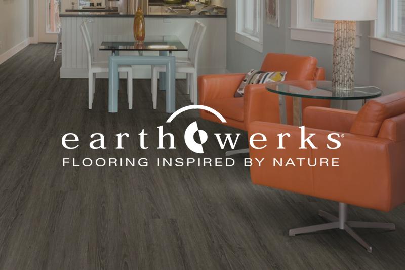 Ryan's Flooring is proud to carry Earthwerks luxury vinyl tile, luxury vinyl plank and waterproof core flooring products.