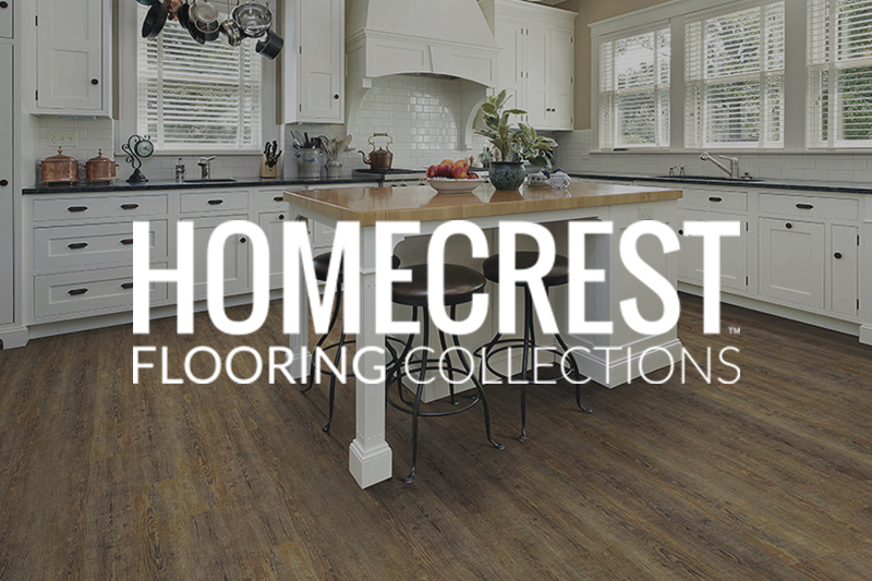 Ryan's Flooring is proud to carry Homecrest luxury vinyl tile, luxury vinyl plank and waterproof core flooring products.